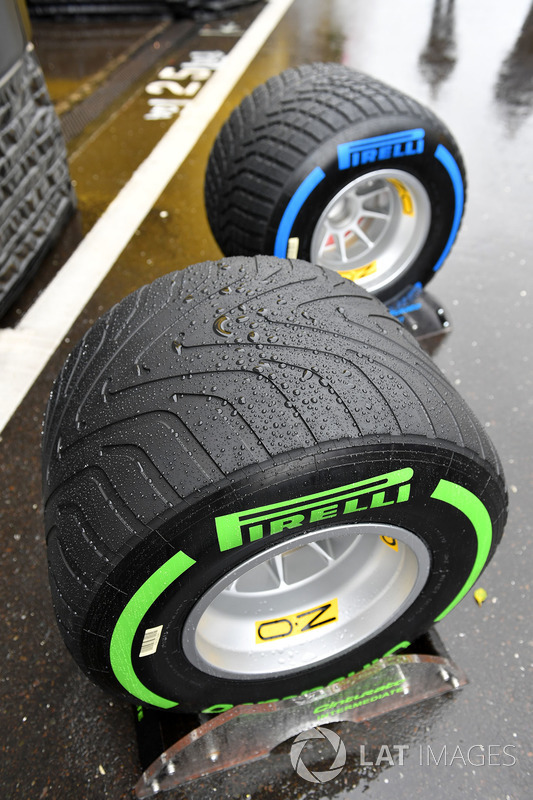 Intermediate and wet weather Pirelli tyres and rain