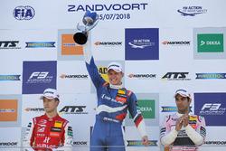 Podium: Race winner Nikita Troitskiy, Carlin Dallara F317 - Volkswagen, second place Guanyu Zhou, PREMA Theodore Racing Dallara F317 - Mercedes-Benz, third place Jehan Daruvala, Carlin Dallara F317 - Volkswagen