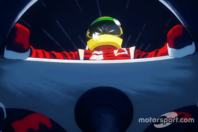 Animação de Ayrton Senna
