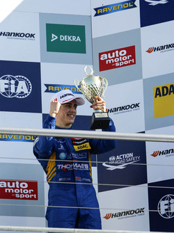 Podium: third place Jake Hughes, Carlin Dallara F312 - Volkswagen