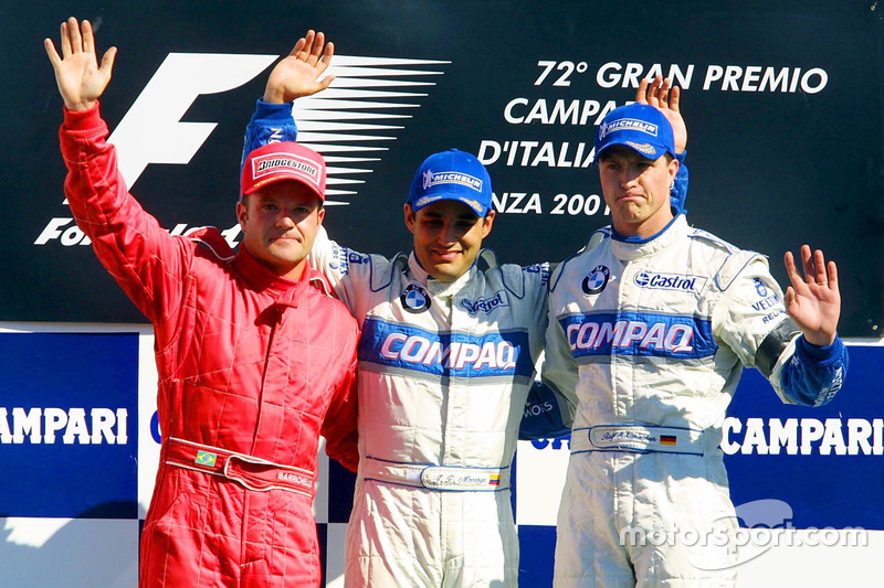 2001. Подіум: 1. Хуан-Пабло Монтойя, Williams-BMW. 2. Рубенс Баррікелло, Ferrari. 3. Ральф Шумахер, Williams-BMW