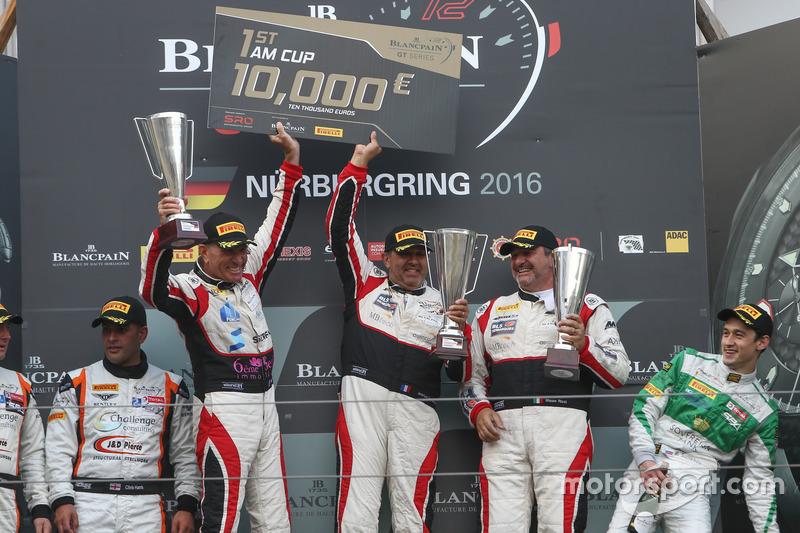 Podium AM-Cup: Winners #87 AKKA ASP, Mercedes-AMG GT3: Maurice Ricci, Jean-Luc Beaubelique, Gilles Vannelet