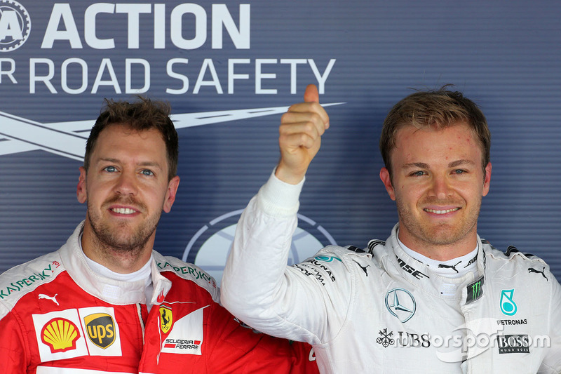 Polesitter: Nico Rosberg, Mercedes AMG F1 Team, second place Sebastian Vettel, Ferrari