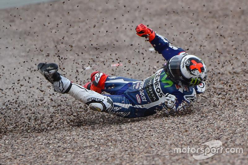 Crash: Jorge Lorenzo, Movistar Yamaha MotoGP