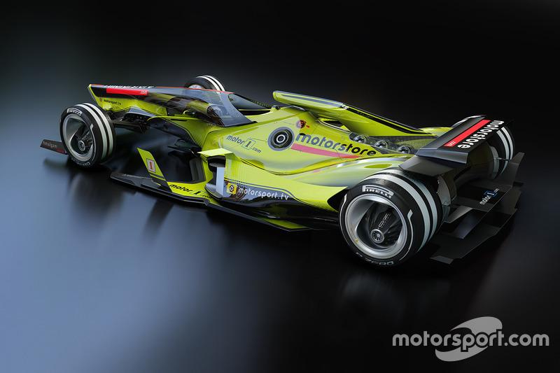 Futuristisch Formule 1-ontwerp voor 2030