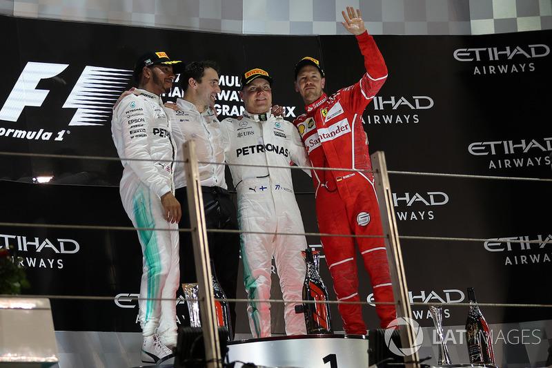 2017: 1. Valtteri Bottas, 2. Lewis Hamilton, 3. Sebastian Vettel
