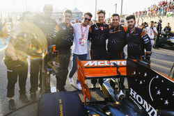 Cyclist Mark Cavendish with the McLaren team