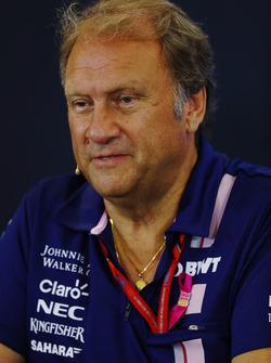 Bob Fernley, Deputy Team Principal, Force India, in the Team Principals Press Conference