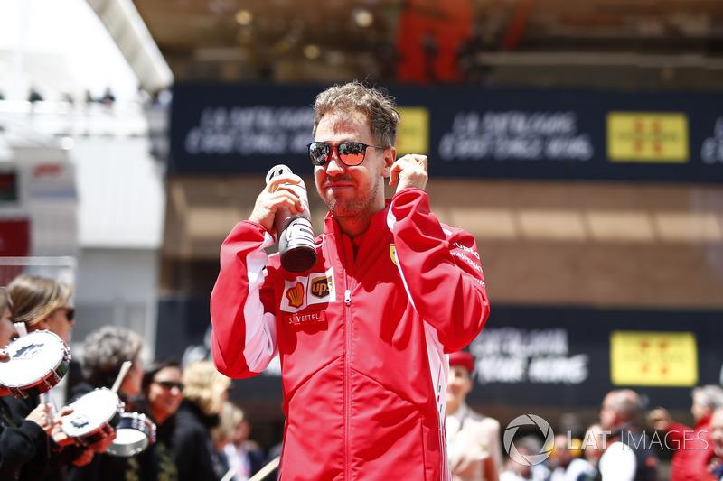 Sebastian Vettel, Ferrari nella drivers parade