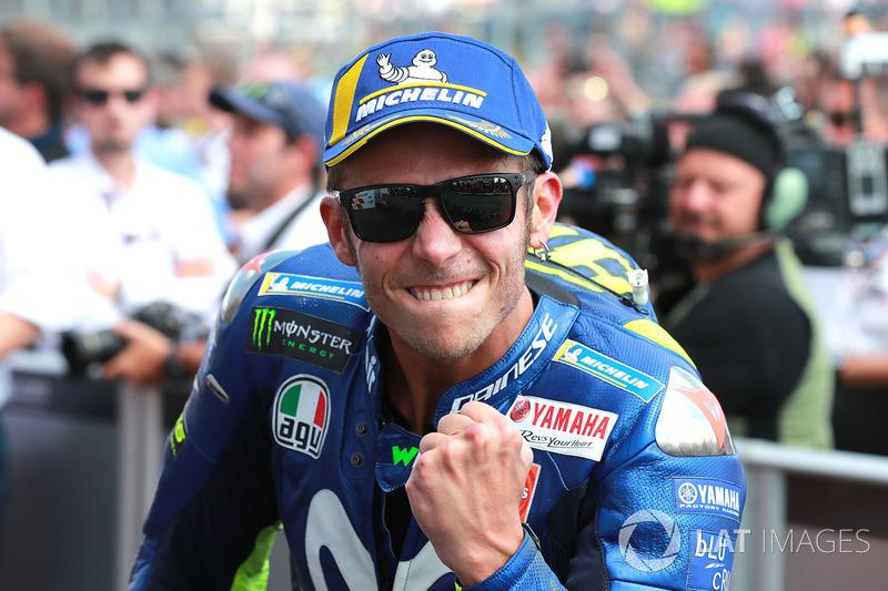Valentino Rossi, Yamaha Factory Racing, en el podio