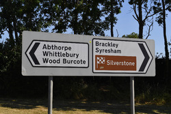 Silverstone Village road signs