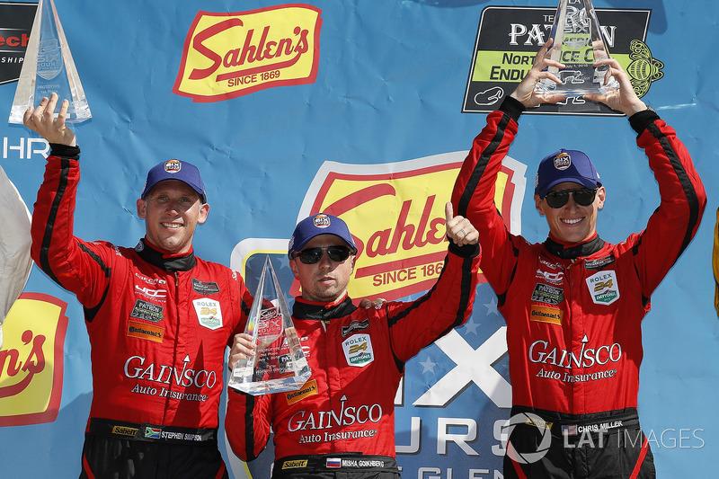 #99 JDC/Miller Motorsports ORECA 07, P: Stephen Simpson, Mikhail Goikhberg, Chris Miller, podio