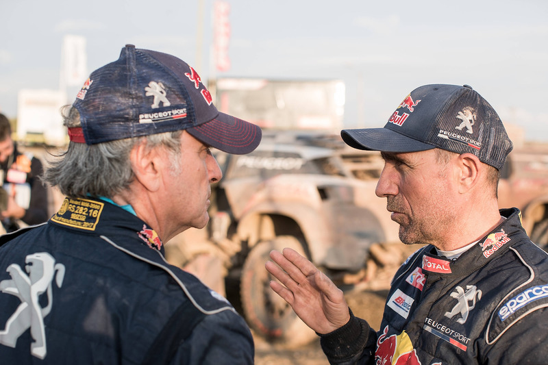 Carlos Sainz, Stéphane Peterhansel, Peugeot Sport