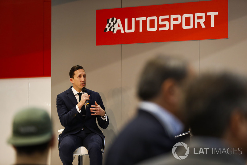 James Barclay of the Jaguar Formula E team speaks to Henry Hope-Frost on the Autosport Stage