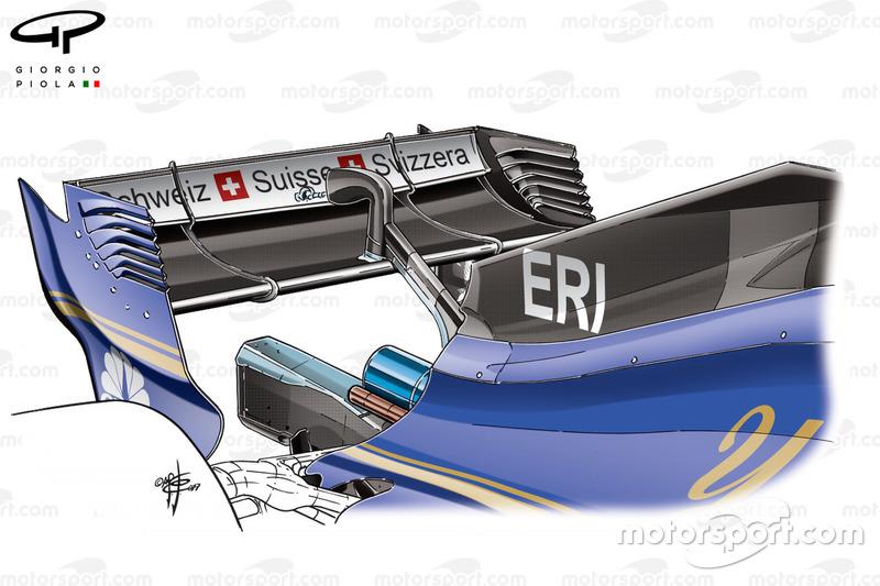 Sauber C36 engine cover
