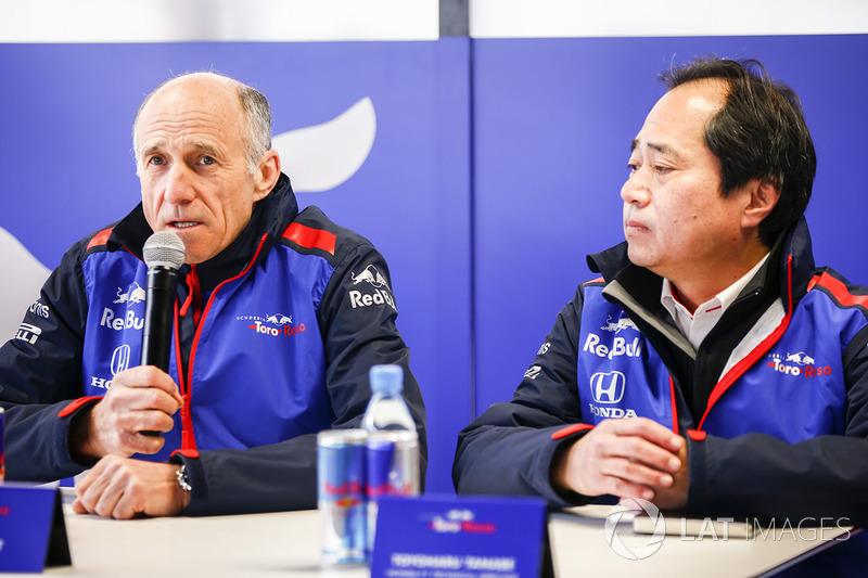 Franz Tost, Team Principal, Scuderia Toro Rosso, Toyoharu Tanabe, Direktur teknis F1 Honda