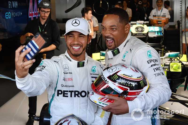 Lewis Hamilton, Mercedes AMG F1 y Will Smith