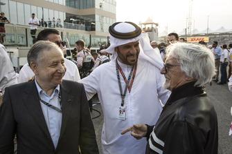 Jean Todt, FIA President, Mohammed Bin Sulayem et Bernie Ecclestone sur la grille