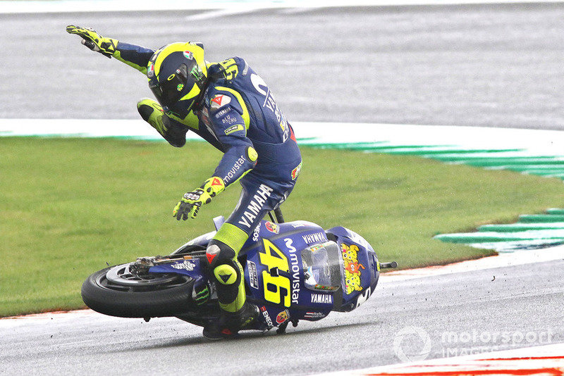 Valentino Rossi, Yamaha Factory Racing crash