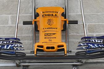McLaren MCL33, il muso per il GP degli USA senza le paratie laterali