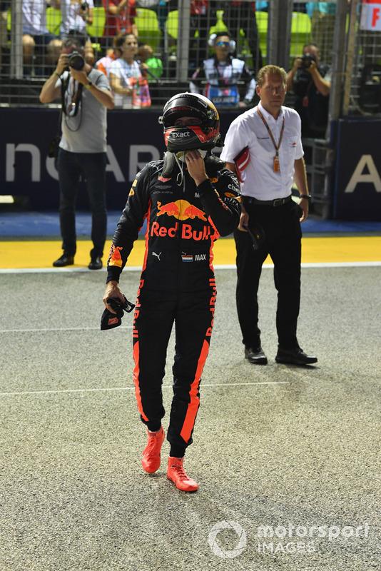 Max Verstappen, Red Bull Racing celebrates in fpe
