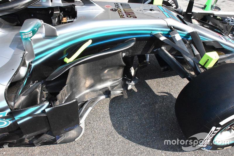 Mercedes AMG F1 W09, bargeboard