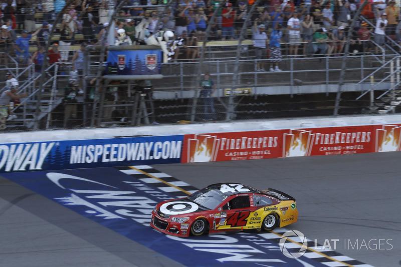 Sieg für Kyle Larson, Chip Ganassi Racing Chevrolet