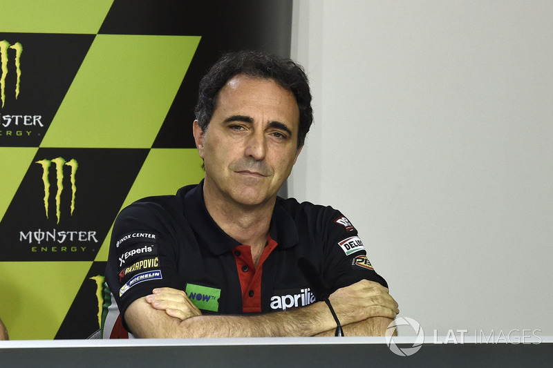 Романо Альбеціано, керівник гоночного відділу Aprilia