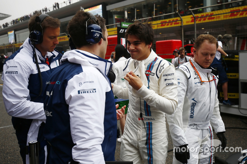 Lance Stroll, Williams, on the grid