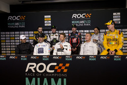 Helio Castroneves; Tony Kanaan; Jenson Button; David Coulthard; James Hinchcliffe; Petter Solberg; K