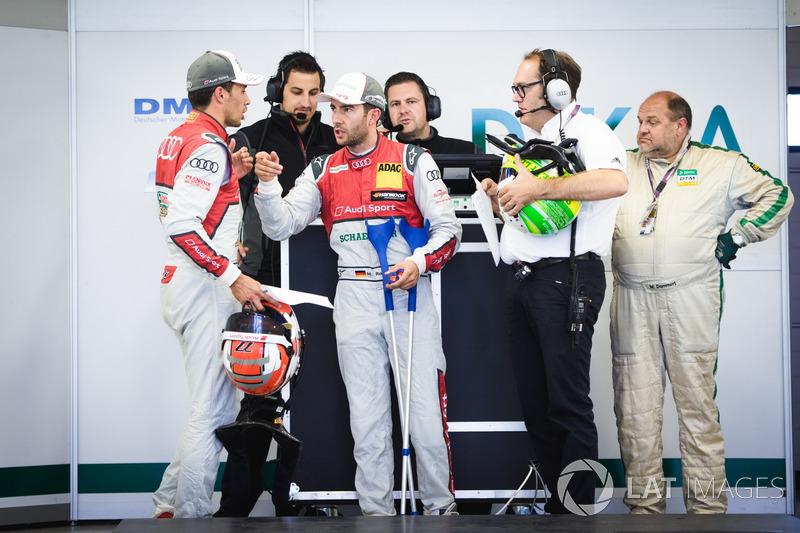 Лоік Дюваль, Audi Sport Team Phoenix, Audi RS 5 DTM, та Майк Роккенфеллер, Audi Sport Team Phoenix, Audi RS 5 DTM