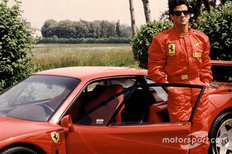 Ferrari F40 та Сільвестр Сталлоне у Фіорано в 1990 році