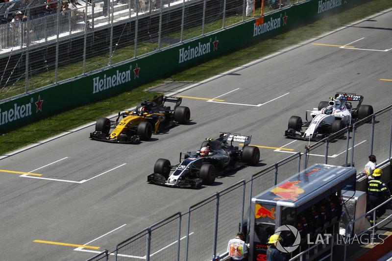 Кевин Магнуссен, Haas F1 Team VF-17, Нико Хюлькенберг, Renault Sport F1 Team RS17, Лэнс Стролл, Will