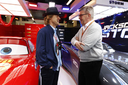 Actor Owen Wilson and Ross Brawn, Managing Director of Motorsports, FOM, in the Cars 3 promotional g