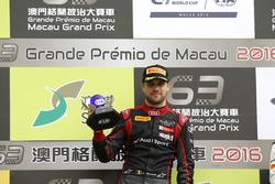 Podium: Race winner Laurens Vanthoor, Audi Sport Team WRT Audi R8 LMS