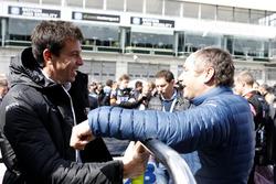 Toto Wolff, Executive Director, Mercedes AMG und Gerhard Berger, ITR-Chef