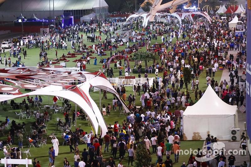 The busy F1 fan village