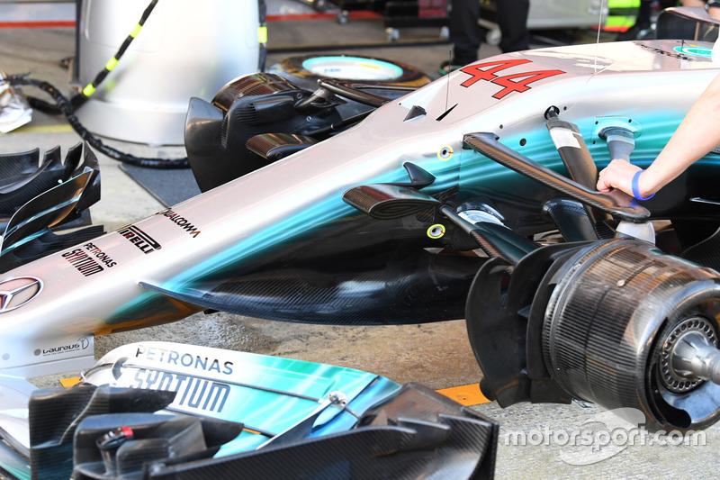 Mercedes-Benz F1 W08  nose