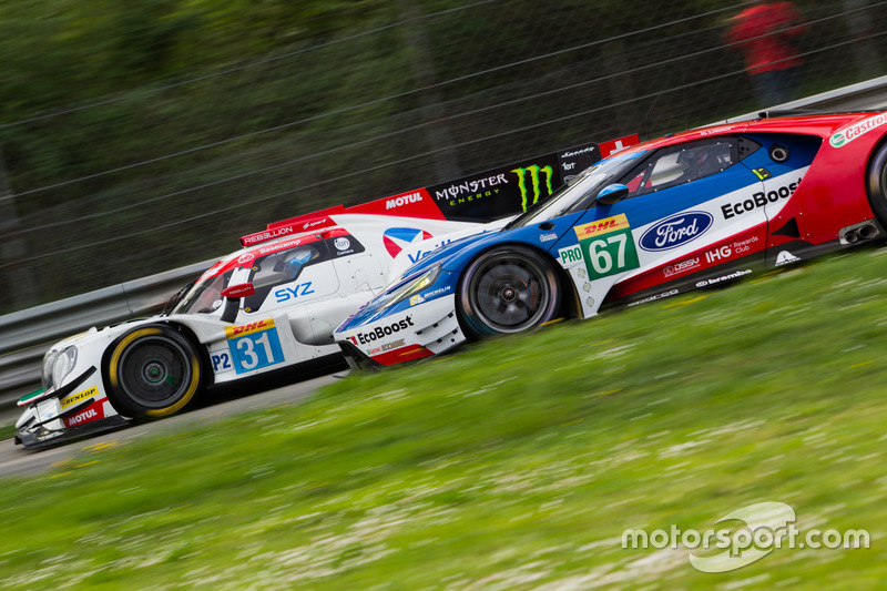 #31 Vaillante Rebellion Racing, Oreca 07 Gibson: Julien Canal, Bruno Senna; #67 Ford Chip Ganassi Racing, Ford GT: Andy Priaulx, Harry Tincknell
