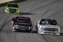 Johnny Sauter, GMS Racing Chevrolet, Ben Rhodes, ThorSport Racing Toyota