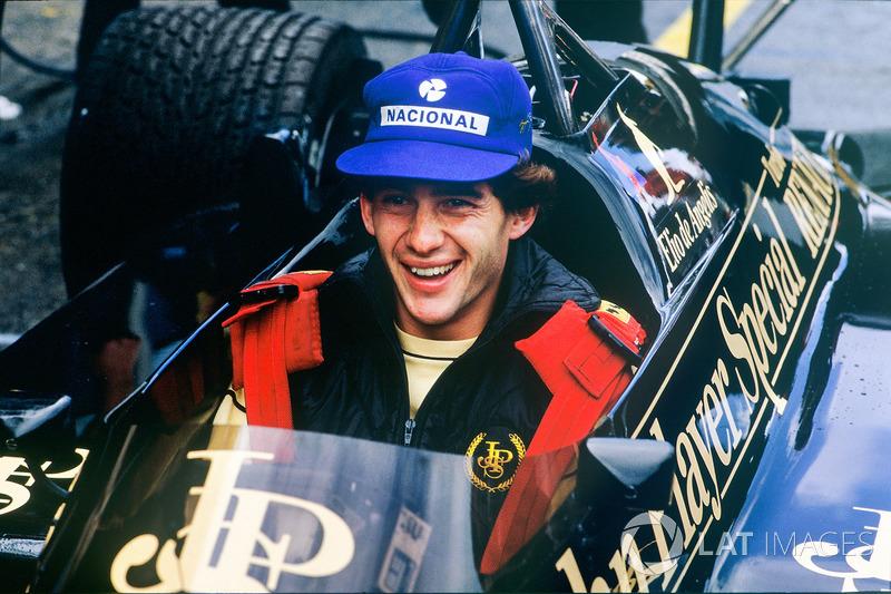 1985: Ayrton Senna, con el Lotus 97T-Renault de De Angelis