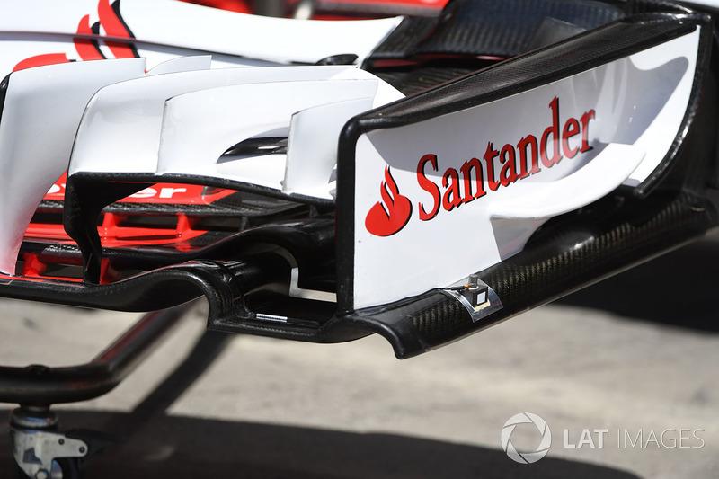 Alerón delantero del Ferrari SF70H