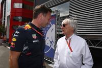 Christian Horner, Red Bull Racing Team Principal and Bernie Ecclestone