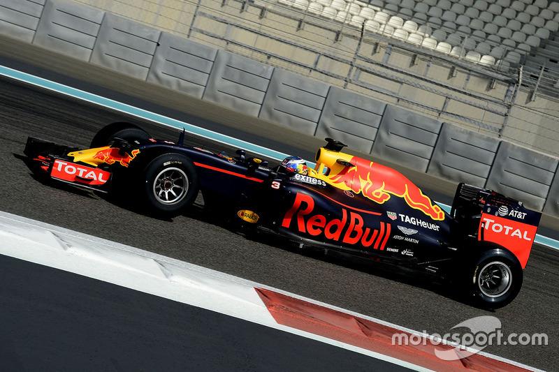 Daniel Ricciardo, Red Bull Racing teste les pneus Pirelli 2017