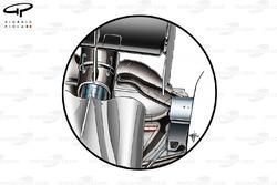 McLaren MP4-29 rear suspension blockers (from above)