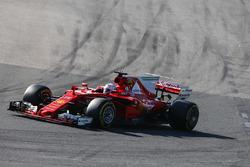 Sebastian Vettel, Ferrari SF70H, leads Max Verstappen, Red Bull Racing RB13, and Lewis Hamilton, Mercedes AMG F1 W08