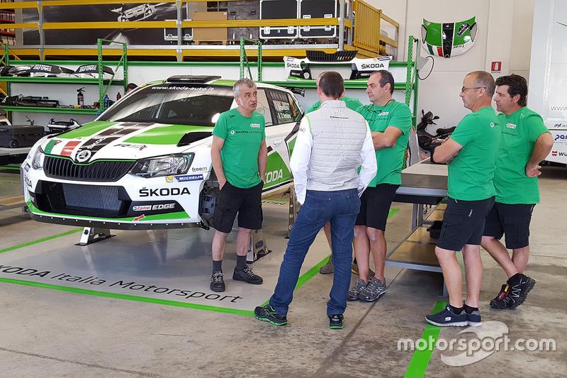 I meccanici di Skoda Italia Motorsport