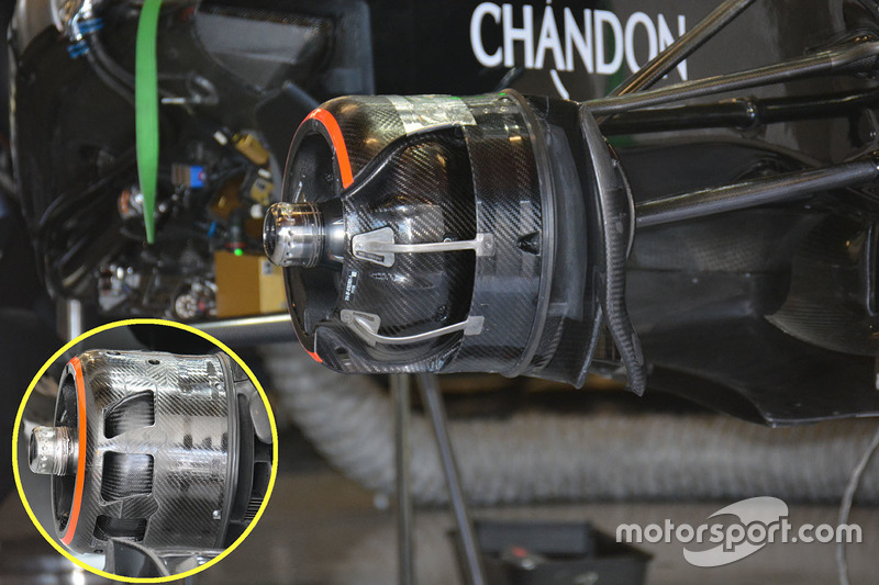 McLaren MP4-31 brake ducts detail