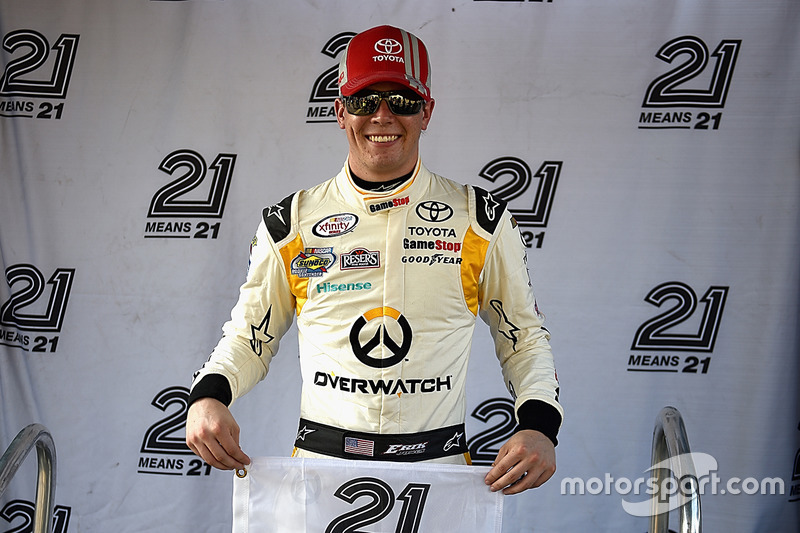 Polesitter Erik Jones, Joe Gibbs Racing, Toyota