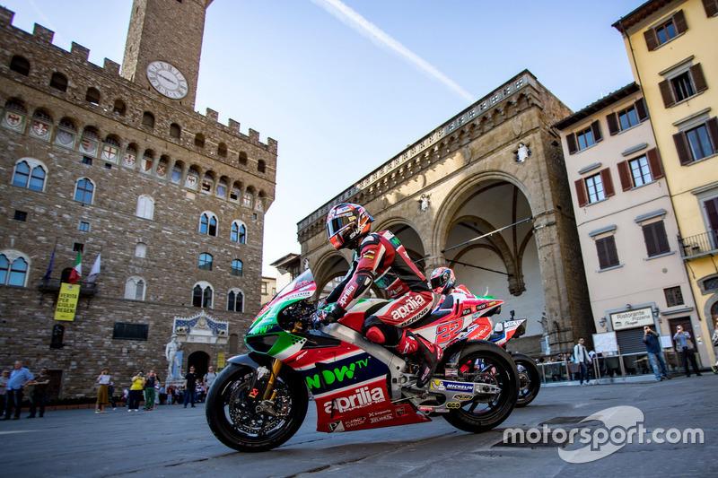 Гонщики MotoGP во Флоренции